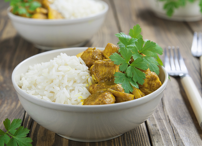 Arroz con pollo al curry (iStock)