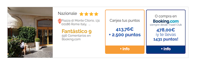 Reservando hotel con Booking y Travel Club ahorrarás casi 65 euros (Travel Club).