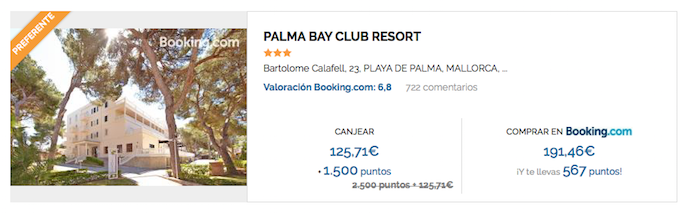Utilizando tus Puntos Travel Club consigues hasta 65 euros de descuento al reservar en el hotel Palma Bay Resort (Travel Club).